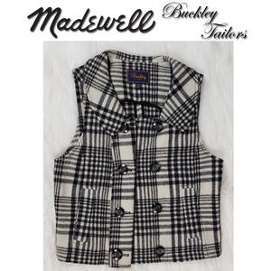 Madewell Buckley Tailors Wood Blend Vest Small